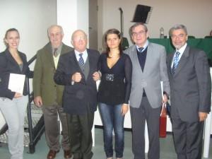 Il vincitore della edizione 2008 con il Sindaco Dr. Petrucci.