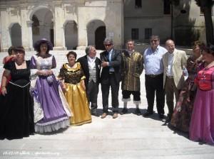 Delegazioni dei paesi limitrofi con il vice sindaco Rucci Ignazio e Martelli Osvaldo