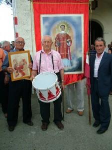 """Di Sipio Giuseppe, al tamburro, e Valente Luigi lo """"sbandieratore"""""""