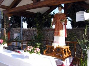 La statua di S. Stefano