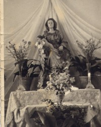 """Statua lignea della Madonna del Sudore """"seduta"""""""