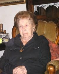 """La signora """"Lina"""" in occasione del compimento di 100 anni del gennaio 2009"""
