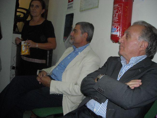 Il Sindaco Mauro Petrucci ed il Vice Sindaco Rucci Ignazio seguono la declamazione delle poesie
