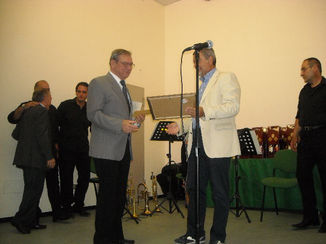 La premiazione da parte del sindaco Dr.Mauro Petrucci