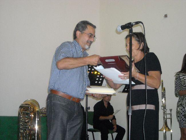 La premiazione di Ireneo Gabriele Recchia che si aggiudica la terza posizione