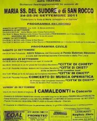 manifesto madoona del sudore 2011