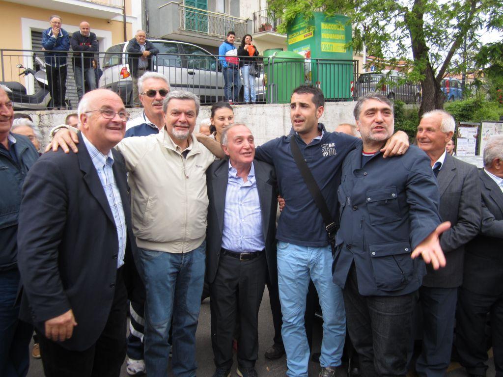 Rucci tra: Mennilli Dario (non riconfermato) - Mauro Petrucci, Palladinetti Gianluca e Luciani Roberto
