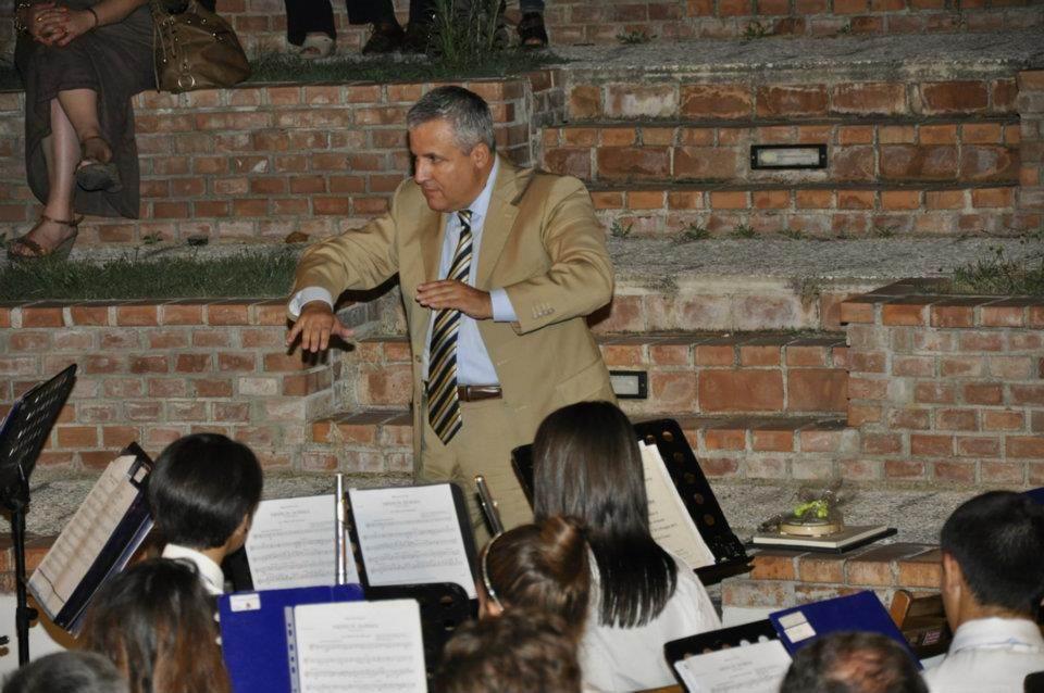 M° Fulvio Creux (direttore della Banda Musicale dell'Esercito Italiano, già direttore della Banda Musicale della Guardia di Finanza)