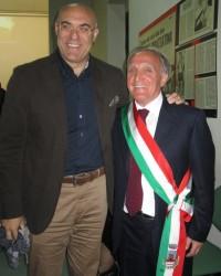 Il neo Sindaco Dr. RUCCI Ignazio con il Sindaco di Chieti Dr. DI PRIMIO Umberto